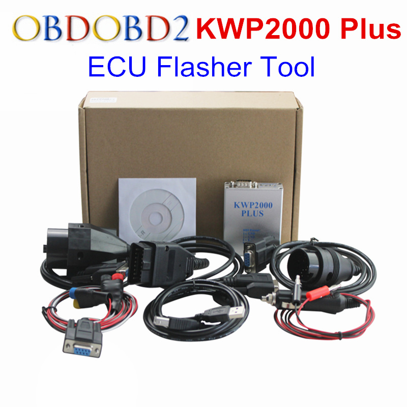 KWP2000 Plus OBDII OBD2 ECU | Outil de réglage des puces KWP 2000 Plus ECU, clignotant, outil de décodage intelligent de remode, programmateur ECU