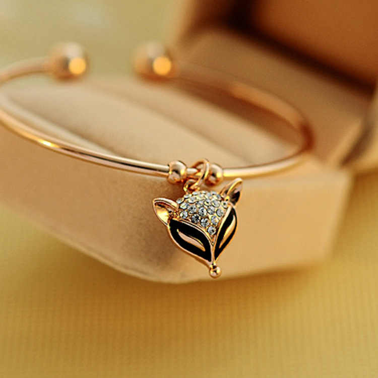 Beauty Rose Gold Bracelet Crystal retro cute Korean crystal bracelet jewelry