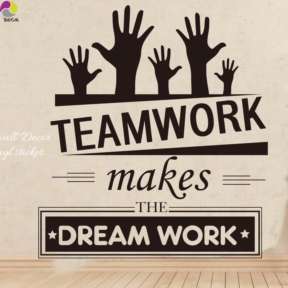 Teamwork Vinyl Wall Quotes