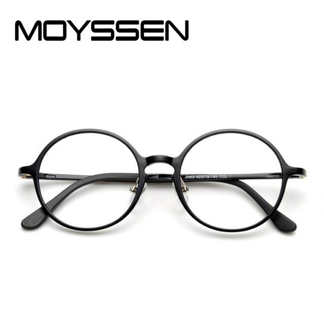 d3a22316f7ab MOYSSEN Korean Fashion Men Nerd Tungsten Vintage Round Eyeglasses Women  Retro Geek Plastic Steel Optical Reading Glasses Frame