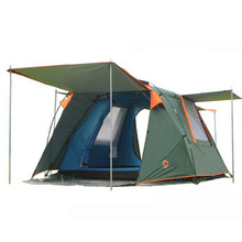 Camel automatic double tent outdoor 3-4 people camping tent tent 088(China)