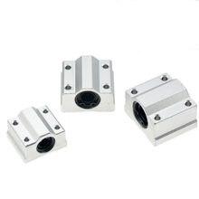 1 pc SC8UU SCS8LUU 8 milímetros Linear Ball Bearing Bloco de CNC Router SCS6UU SCS10UU SCS12UU SCS13UU para CNC 3D impressora eixos peças Haste