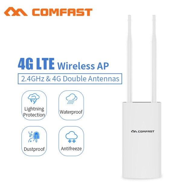 Comfast CF E5 عالية السرعة في الهواء الطلق 4G LTE نقطة وصول لاسلكية موزع إنترنت واي فاي التوصيل والتشغيل 4G سيم بطاقة المحمولة راوتر لاسلكي موزع إنترنت واي فاي