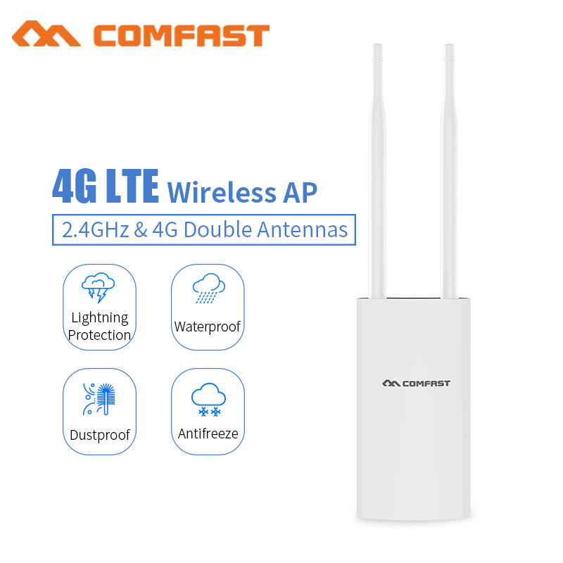 Comfast CF E5 High Speed Outdoor 4G LTE Wireless AP Wifi Router plug and play 4G SIM card Portable Wireless Router WiFi Router-in Wireless Routers from Computer & Office