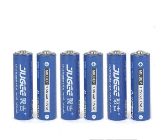 6 pcs 1.5 v AA lifepo4 lithium ionen batteries 14500 JUGEE 3000mWh rechargeable li-ion Li-polymère Li-Po batterie appliquer Jouets, etc