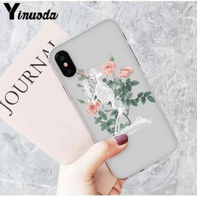 Yinuoda arte hermoso Tumblr nueva estética calavera Floar fonecase para iPhone8 7 6 6S Plus 5 5S SE XR X XSMAX 10 11 11pro 11promax