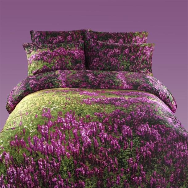 Purple And Green Bedding Sets.Us 132 05 5 Off 3d Purple Lavender Green Bedding Set Queen Size Duvet Cover Sets Bedspread 100 Cotton Bed Sheets Linen Spread Quilt Bedset Mauve In