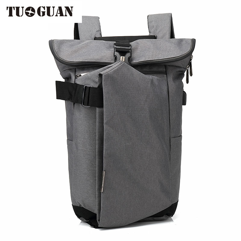 TUGUAN Fashion Men Waterproof Anti Theft Laptop Backpack USB Charging Large Back Pack Travel School Bags Bagpack for Male Boy vkingvsix usb waterproof school bags for teenagers 14 17 inch laptop backpack men women boy travel back pack bagpack mochila