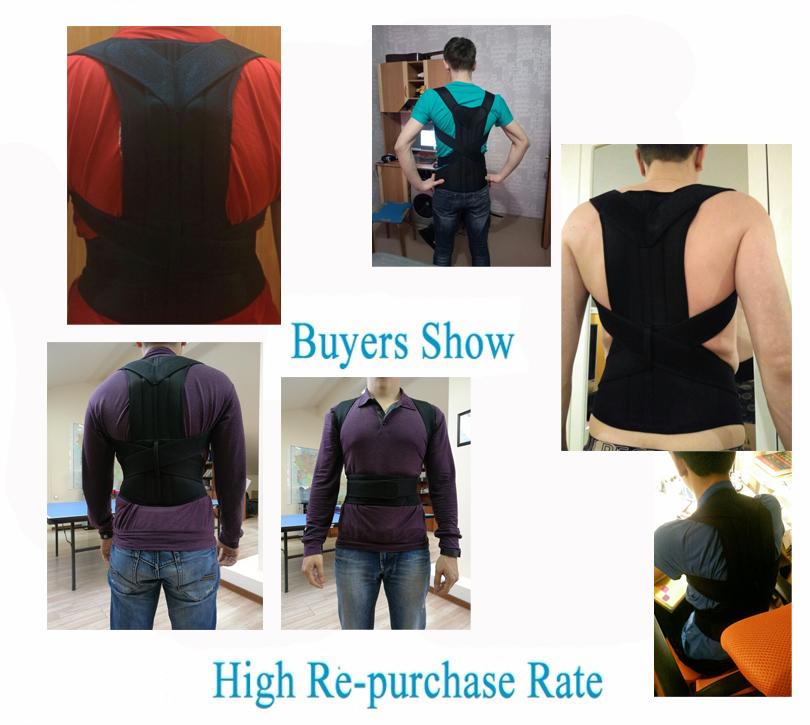 back support for women Unisex Adjustable Back Posture Corrector Brace Back Shoulder Support Belt Posture Correction Belt for Men Women S-XXL Belt Health AOFEITE (2)