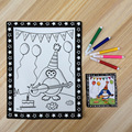 3D Черный ящик Рельеф акварель живопись Ребенок мультфильм Ручная Роспись Три-мерное живопись DIY Головоломки научиться рисовать игрушки