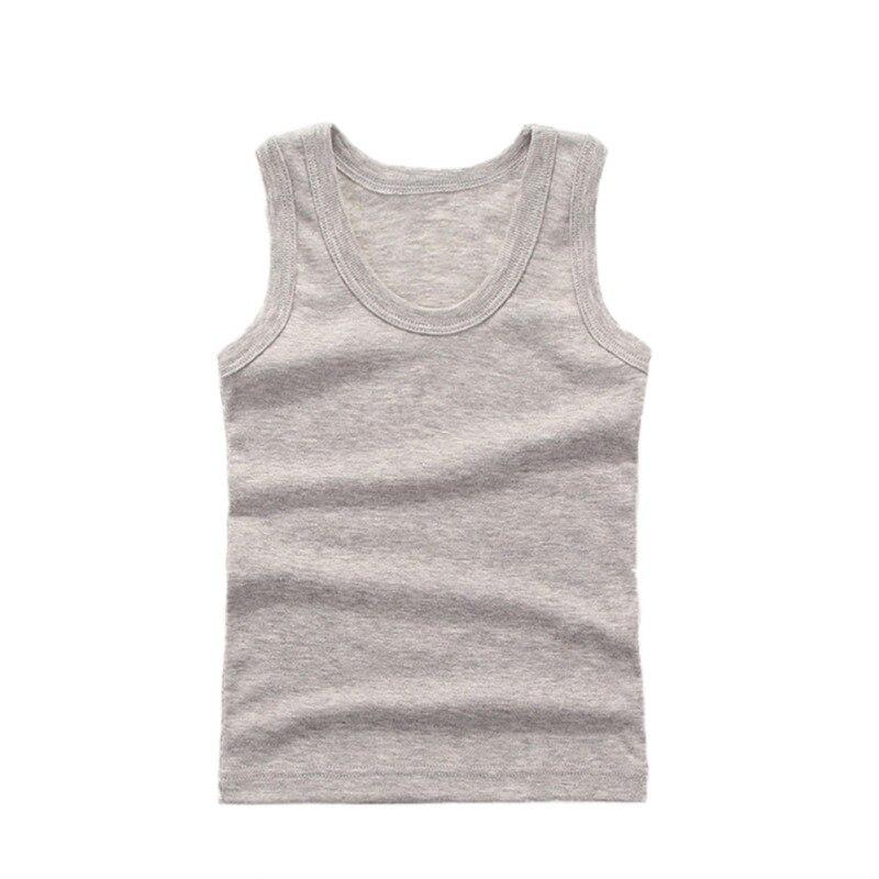 3-8Y Kids Underwear Cotton Girls Boys Tanks Tops Baby Boy Summer Vest Girl Camisole Children Solid Undershirt Sleeveless Vest 5