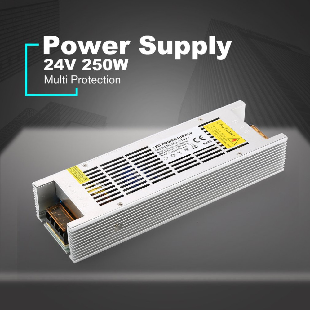 DC 24V 250W LED Power Supply Switch Current Volt Driver Adaptor Switching Lighting Stabilized Transformer Constant VoltageDC 24V 250W LED Power Supply Switch Current Volt Driver Adaptor Switching Lighting Stabilized Transformer Constant Voltage