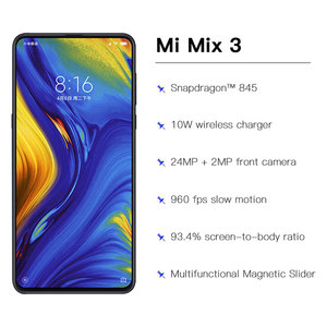 Image 4 - Global Version Xiaomi Mi Mix 3 6GB 128GB Snapdragon 845 Octa Core Smartphone 24.0MP Front Camera Wireless Charger