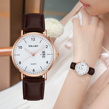 Casual Simple Women Watches Rose Gold Leather Strap Ladies Quartz Wrist Watch Female Clock Wife Gift For Relogio Feminino casual simple rose gold women watches mesh strap ladies quartz wrist watch clock wife gift for relogio feminino montre femme