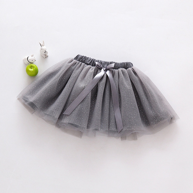 Spring and Summer New Children 's Clothing Children' s Wild Girl Skirt Baby Net Yarn Stitching Bow Tie Skirt YD186