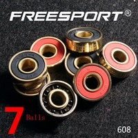 FreeSport 608 Black Ceramic Bearings 7 Balls ABEC 9 High Rev Rodamientos Skateboard LongBoard Inline Skate