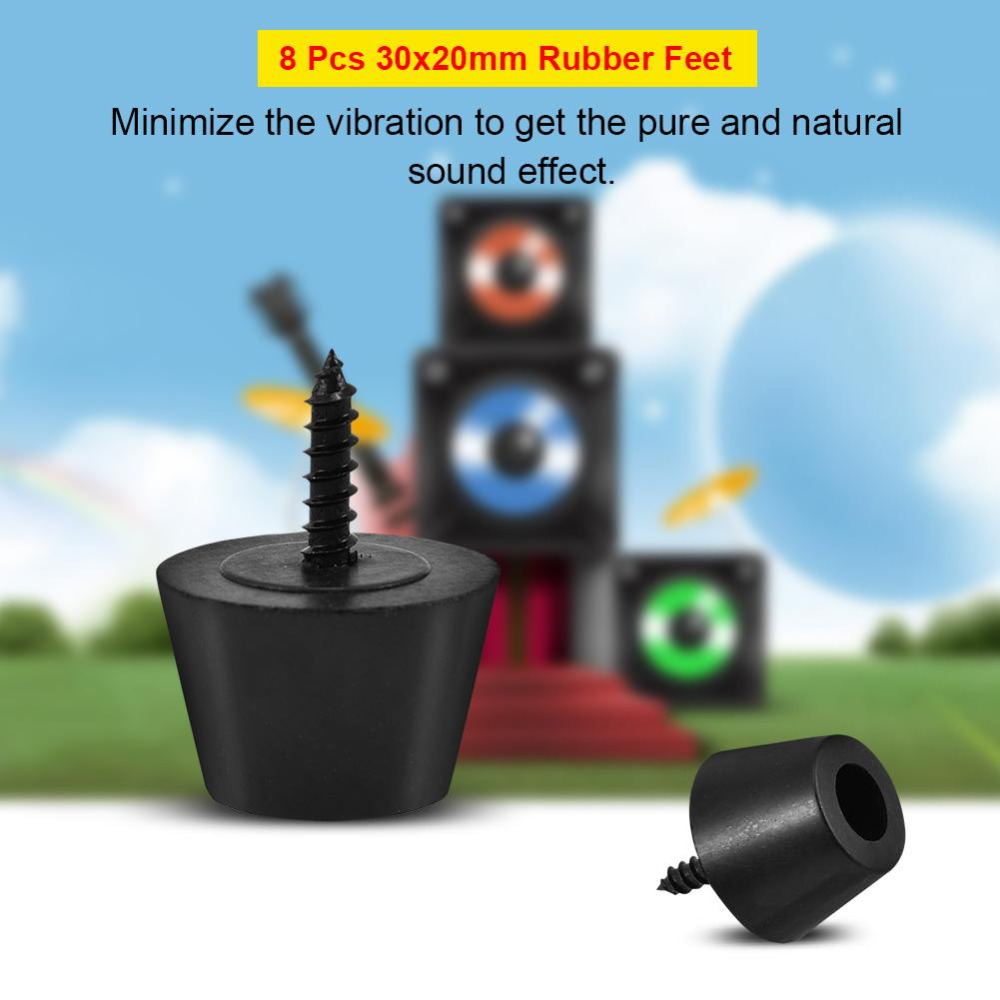8 pcs 30x20mm speaker stand rubber feet anti vibration base pad stand for speaker guitar. Black Bedroom Furniture Sets. Home Design Ideas
