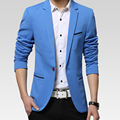 Осенью новый мужской самосовершенствование моды пиджак сплошной цвет костюмы случайные костюмы мужские tidedo506