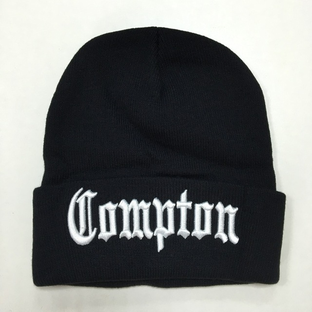New West beach gangsta Compton Eazy-E Winter Warm Fashion   Beanies   Hats Knitted bonnet Caps Hip Hop Gorros Knit Hats Men Women
