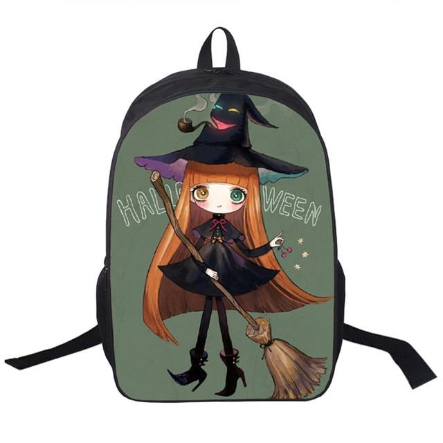 2018 new women bags halloween prints backpack students school bag for girls boys rucksack mochila private - Halloween Prints
