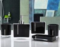 5 Pcs Set Bathroom Supplies Wash Set Creative Acrylic Bathroom Accessories Set
