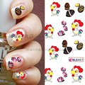 100pcs/lot Free shipping BLE377-409 Small Sheet watermark Easter day nail sticker