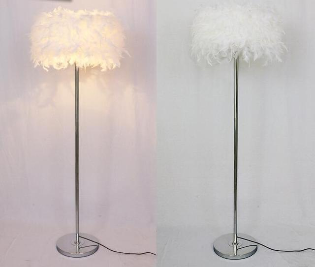Aliexpress buy a1 feather floor lamps coffee shop bedroom a1 feather floor lamps coffee shop bedroom living room modern multi color beautiful fashion feather mozeypictures Choice Image