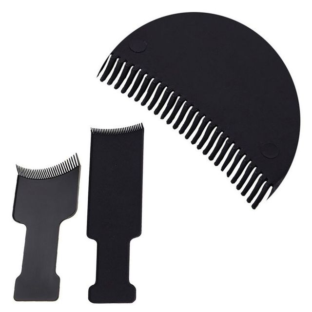 Mayitr Professional Black Hair Highlighting Comb Diy Hair Tint Dye