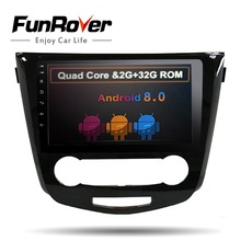 Funrover 10.1″ 2din Android 8.0 car DVD player gps for Nissan Qashqai X-Trail 2014-2017 car stereo radio navigation RDS wifi usb