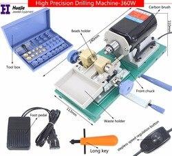 Freeshipping 360W Mini Perle Bead Bohren Maschine, Bernstein Holing Maschine, Schmuck Bohrer Werkzeug & Ausrüstung Set