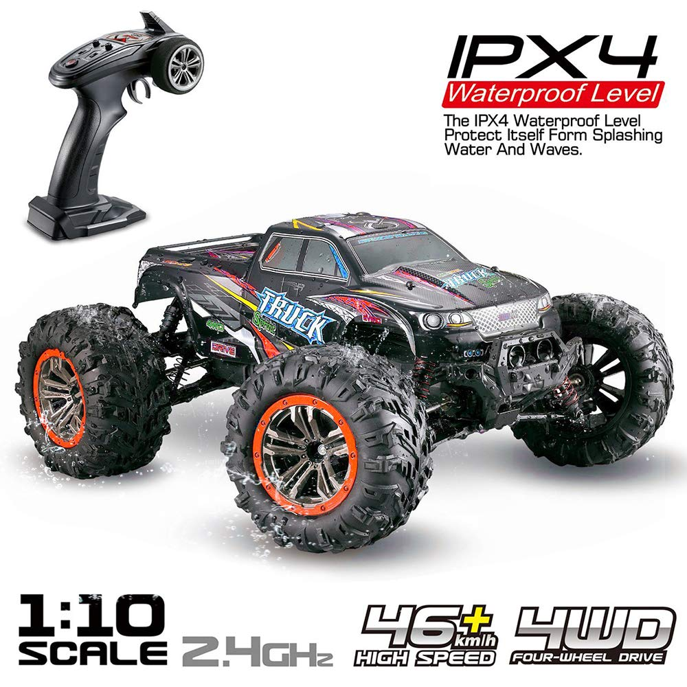 EBOYU 9125 2.4Ghz 1:10 <font><b>Scale</b></font> 4WD <font><b>RC</b></font> Car 46KM/H High Speed Big Feet Car Off Road Waterproof Monster Remote Control Car RTR image