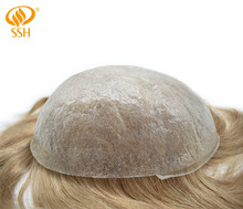SSH Remy Hair Invisible Mens Replacement Ultra Thin Skin Toupee Poly Hairpiece PU Systems