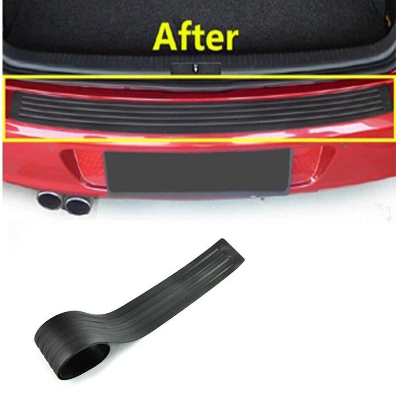 Car Rear Bumper Sticker Rear Trunk Protect Guard Auto Accessories Rubber Car Protection For Any Car Universal 1pc per set