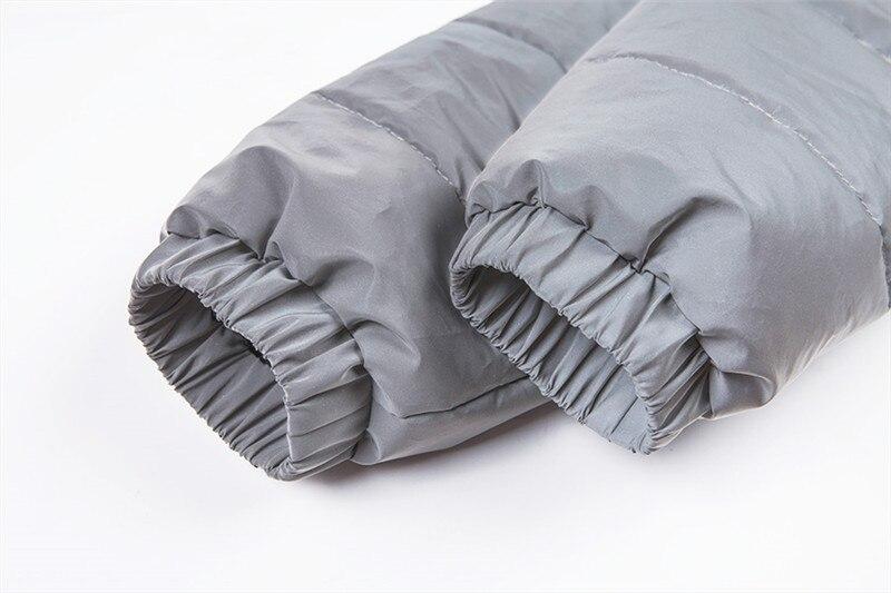 Dulzura flash reflective women padded jacket short tops warm 18 autumn winter solid zipper oversize loose outwear coats casual 30