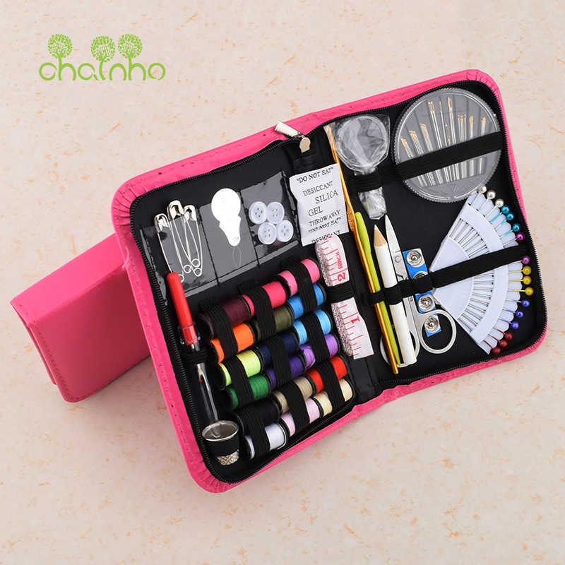 Chainho, Draagbare Gemengde Naaien Tool Set Voor Handwerk/multifunctionele Naaien Kits Doos/Schaar, threads, Naald, Naaien Accessoires,