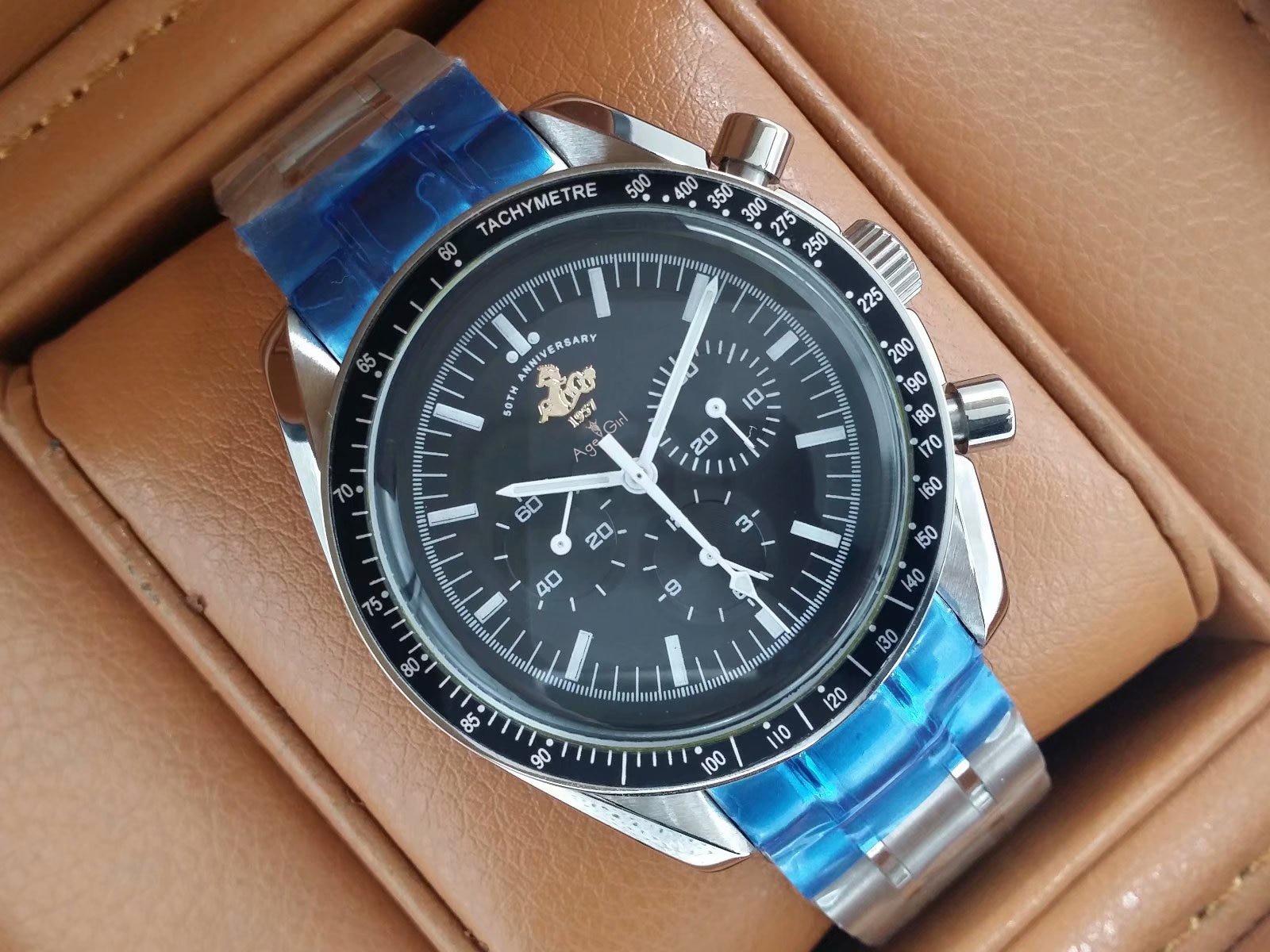 Luxury Brand New Men Automatic Mechanical Watches Speed Racing Luminous Ceramic Bezel Sapphire Sports Watch 50th