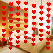 LOVE Wedding Decoration Creative Room Layout Curtains Romantic 16 Hearts DIY High Quality Marriage 1PC New Non-woven Hot Sale