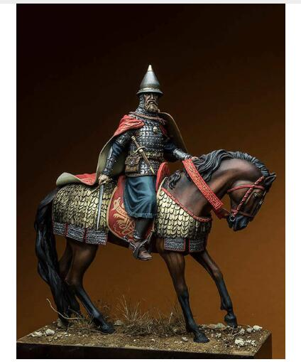 1 24 75MM ancient Dmitry Donskoy WITH BASE and HORSE Resin figure Model kits Miniature