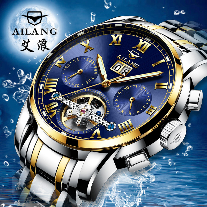 2018 Mens Mechanical Watch Clock Skeleton Wristwatches Top Brand Luxury Montre Homme Geniune Wristwatche Luminous mce top brand mens watches automatic men watch luxury stainless steel wristwatches male clock montre with box 335
