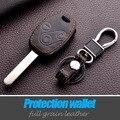 Натуральной кожи ключа автомобиля чехол для HONDA Accord CR-V Civic Fit Освободил StepWGN брелок держатель брелок 3 кнопки