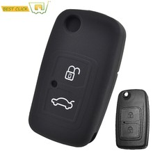 Silicone Car Key Case For Chery A3 A5 A13 M11 E5 Tiggo Tengo Fulwin2 Cowin Cover Keyless Remote Fob Shell Skin(China)