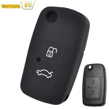 Silicone Car Key Case For Chery A3 A5 A13 M11 E5 Tiggo Tengo Fulwin2 Cowin Cover Keyless Remote Fob Shell Skin image