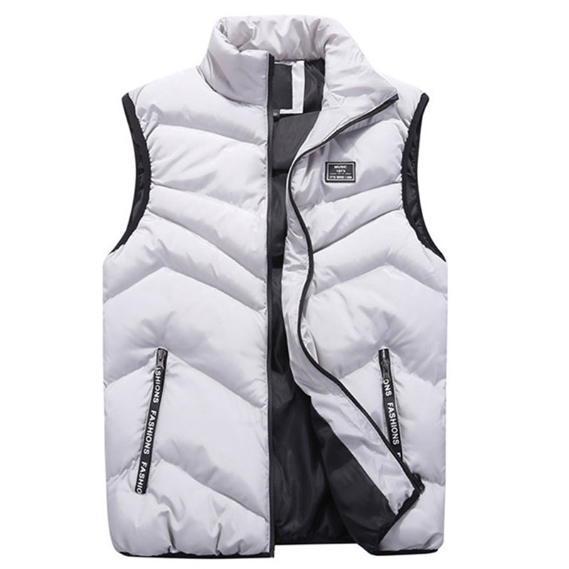 Fashion 2018 Cotton Men Vest For Winter Autumn Outerwear Windbreaker Parka Thick Warm Baggy Sleeveless Jacket Male Waistcoat New-in Vests & Waistcoats from Men's Clothing    1