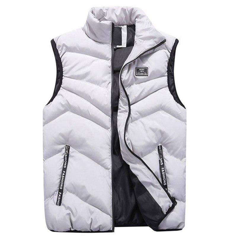 Mody 2019 bawełna mężczyźni kamizelka na zimę jesień odzież wierzchnia kurtka wiatrówka grube ciepłe Baggy bezrękawnik mężczyzna kamizelka nowy w Kamizelki od Odzież męska na AliExpress - 11.11_Double 11Singles' Day 1