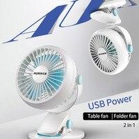 כוח USB AUX מיני מאוורר חשמלי בית/מיטה במעונות סטודנטים אוהד קליפ אילם טבעי 3 להבים מהירות רוח מתכוונן 3 W 5 V אוהדים קטנים