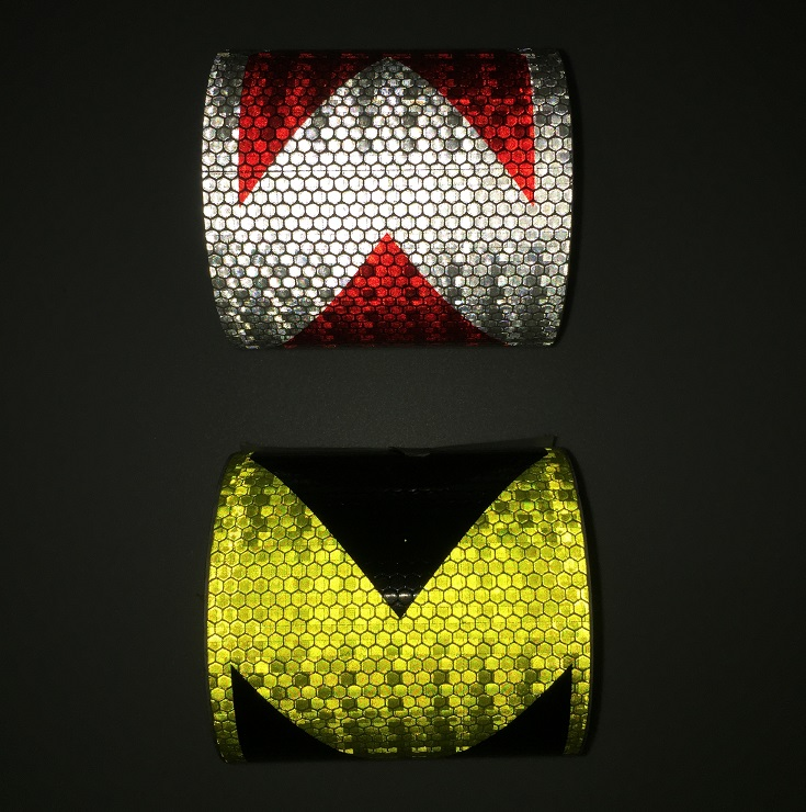 10cm*1M Self-adhesive PVC Reflective Safety Tape Road Traffic Construction Site Reflective Sign