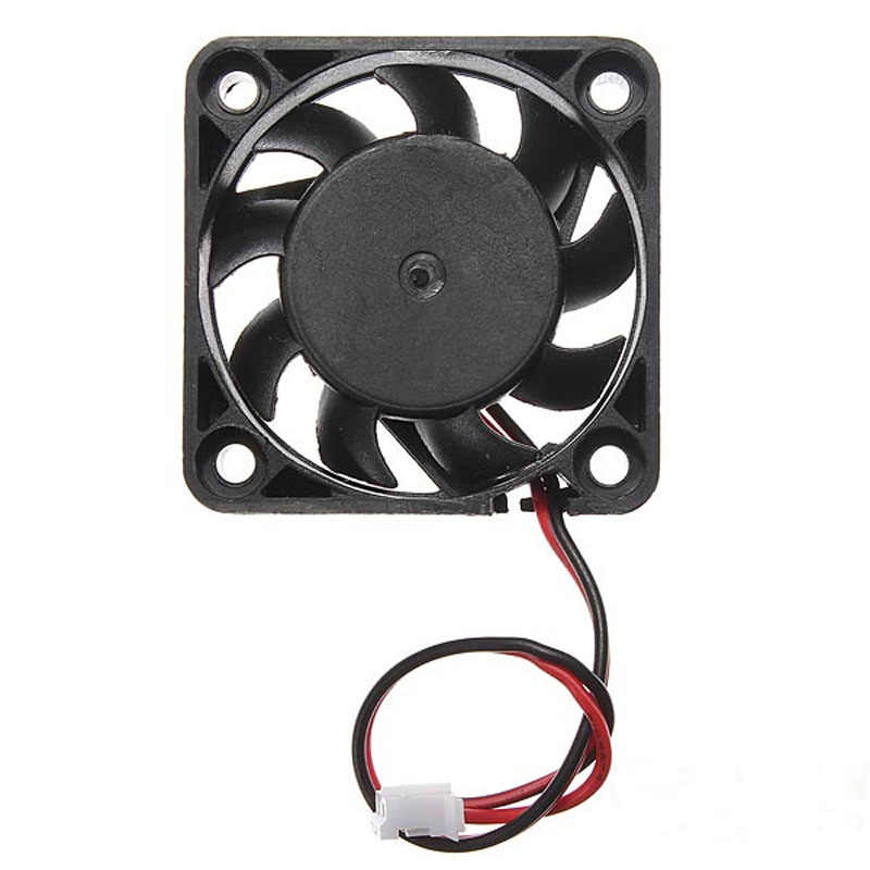 Carprie 2 Pcs 12 V Mini Komputer Cooler Fan 12 V 2 Pin 40 Mm Kipas Komputer Kecil Kipas Pendingin PC Hitam F Heat Sink # LT10
