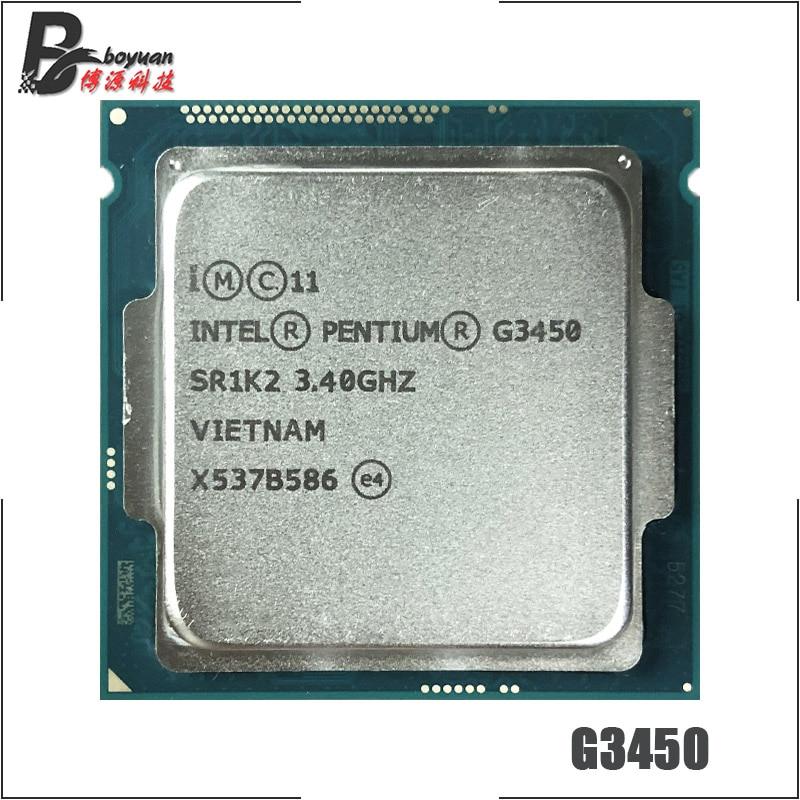 Двухъядерный процессор Intel Pentium G3450 3,4 ГГц 3 м 53 Вт LGA 1150