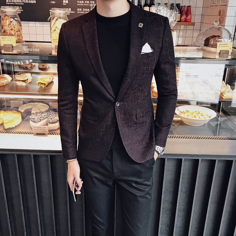 Fashion New Korean Version Of The Slim Fashion Small Suit Men's Nightclub Barber Men's Suit England Wild Suit Men
