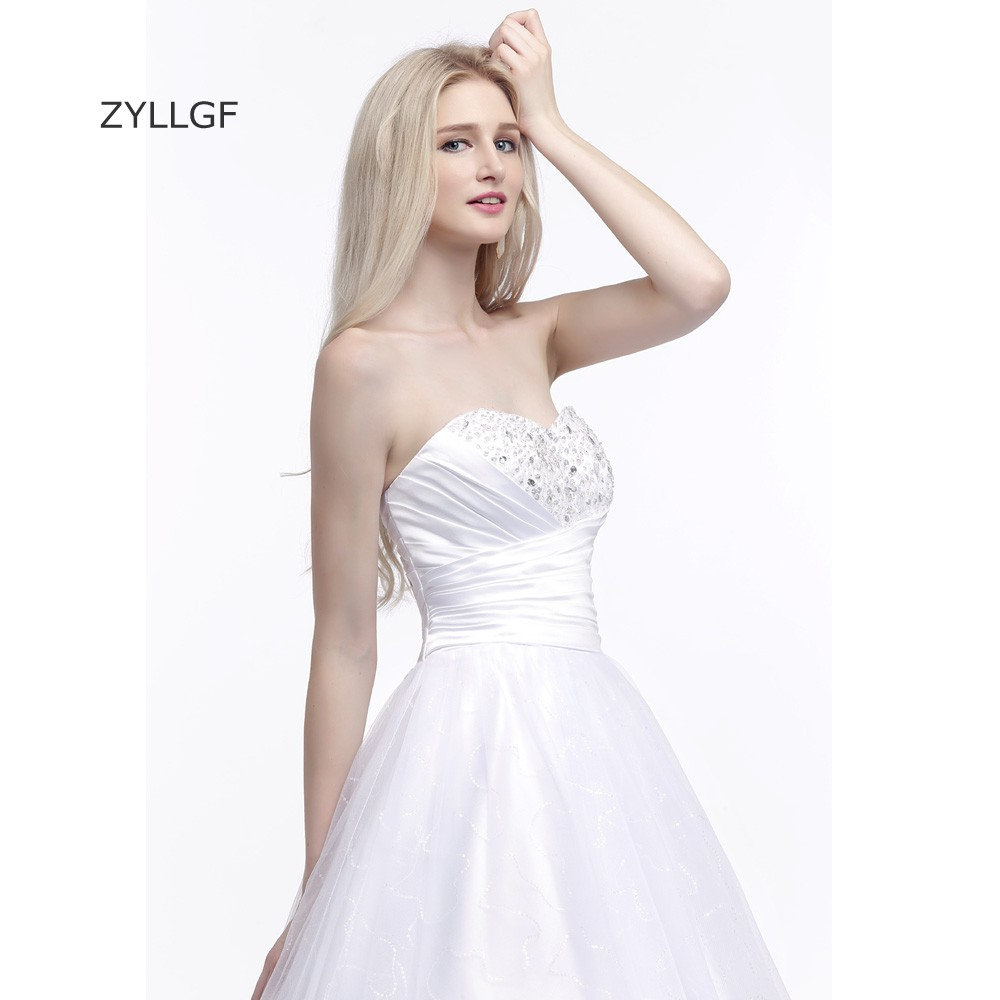 76e42ecc8c359 US $169.0 |ZYLLGF Hippie Wedding Dress Ball Gown Sweetheart Sequins Beaded  Tulle Vestido De Noiva 2017 White Bridal Dress Corset Back Q201-in Wedding  ...